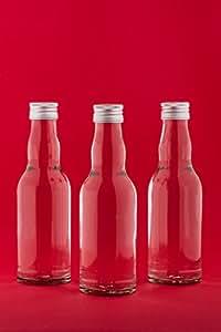 10 leere glasflaschen mit schraubverschluss 200 ml kro. Black Bedroom Furniture Sets. Home Design Ideas
