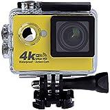 CkeyiN® Cámara Deportiva Sumergible 30M WiFi 4K Ultra HD 12MP 170°gran Angular Lente Micro SD Hasta 32G