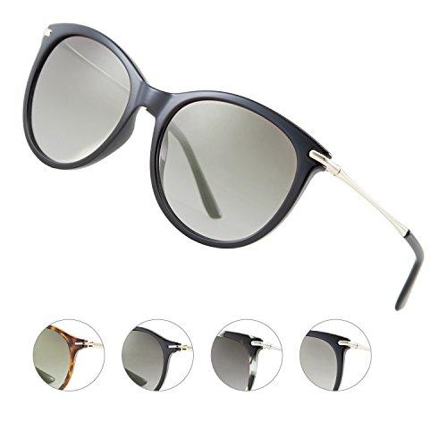 Elegear Sonnenbrille Damen Sonnenbrille Retro Verlaufsglas Sonnenbrille Vintage Retro-Collection, 100% UV400-Schutz mit mit Beeindruckende Farbverstärkung Klarheit und Komfort, Sunglasses Woman (Festigkeit Gesicht)