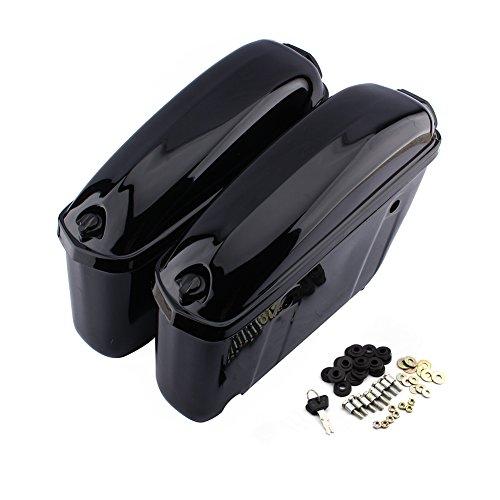 Caja Lateral Moto rígida, par de alforjas Laterales en ABS con Llave...