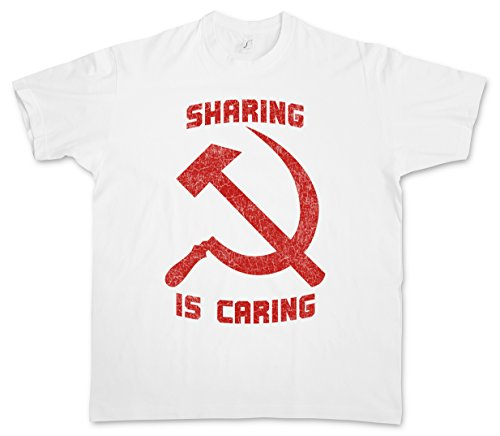 Urban Backwoods Sharing Is Caring T-Shirt – Taglie S – 5XL Bianco