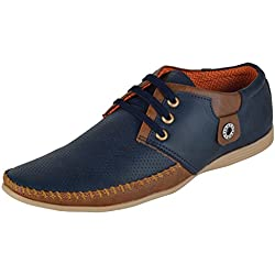 Shoes Bank Men's Casual Shoes Blue Leather 8