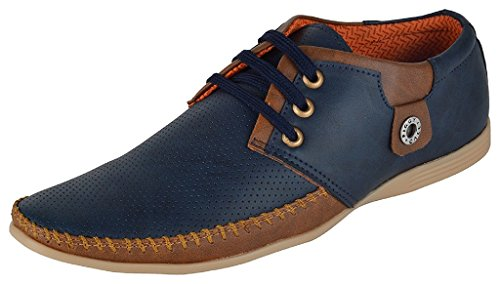 Shoes Bank Men's Outdoor Blue Casual + Partywear Shoes