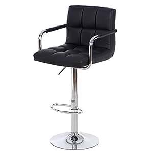 songmics h henverstellbar barhocker stuhl barstuhl mit armlehnen und lehne antirutschgummi. Black Bedroom Furniture Sets. Home Design Ideas