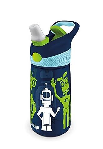 Contigo Striker Water Bottle - Navy Blue Robots, 14 oz