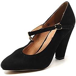 Ravel , Damen Pumps schwarz schwarz, schwarz - schwarz - Größe: 39