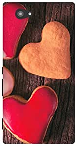 The Racoon Grip Valentines Cookies hard plastic printed back case / cover for Sony Xperia M2