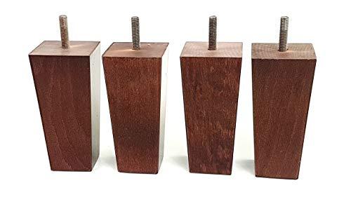 Möbelfüße aus Holz 120mm hoch Ersatz Möbel Beine Set von 4Für Sofas, Stühle, Sofas, Hocker M8(8mm) pkc147b