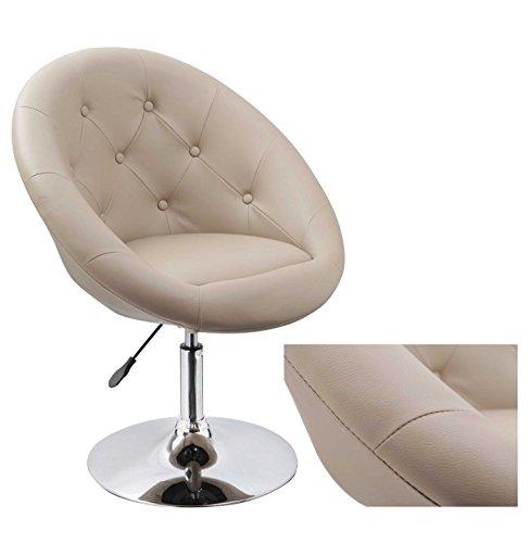 Sessel in Cappuccino höhenverstellbar Kunstleder Clubsessel Coctailsessel Lounge Sessel Duhome 0336