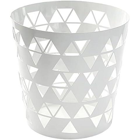 Versa Polygon - Papelera, color blanco