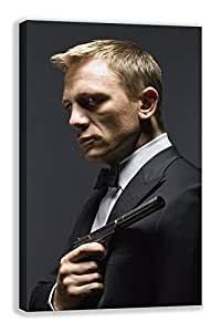 Daniel Craig Spectre 007 James Bond Smoking Tela, Black, 18X30""