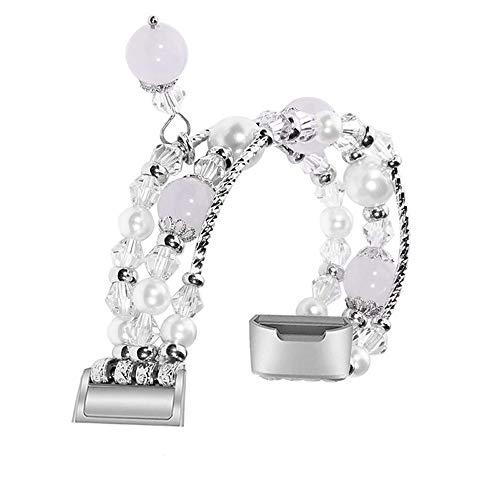 Bescita Mode Elegant Damen Metall Armband, Schmuck Ersatz Watch Band Jewelry Metallarmband mit Schmuck Ersatzband für Fitbit Charge 3 (Weiß)