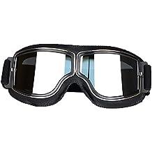 f954b2516d LEAGUE&CO Gafas de Moto Retro Vintage Gafas de Protección Gafas Piloto Gafas  de Aviador, Gafas