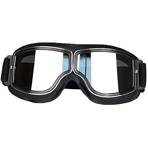 LEAGUE&CO Gafas Moto Retro Vintage Gafas Protección