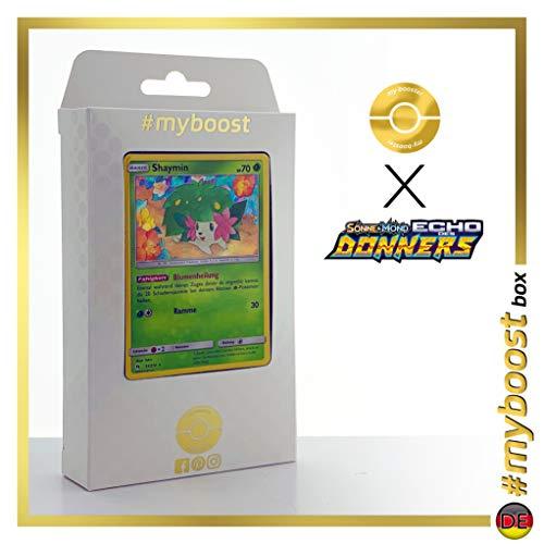 Shaymin 33/214 Holo - #myboost X Sonne & Mond 8 Echo Des Donners - Box de 10 Cartas Pokémon Alemán