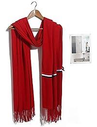 HITSAN INCORPORATION HOT Scarf Pashmina Cashmere Scarf Wrap Shawl Winter Scarf  Women s Scarves Tassel Long Blanket 15a2b705e81