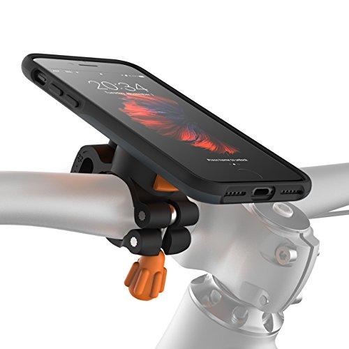 MORPHEUS LABS M4s BikeKit Bike Kit - Fahrradhalterung iPhone 7/8 - Handyhalterung Fahrrad iPhone 7/8 & iPhone 7 / iPhone 8 Hülle US-Mil.standard DropTest, patentierter Magnetverschluss dunkelgrau