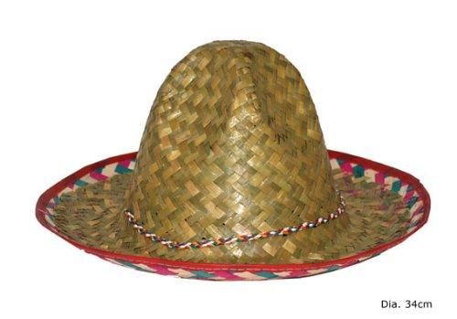 Kinder Sombrero Strohhut Mexikaner Mexiko - 35cm (Kinder Sombrero Hut)