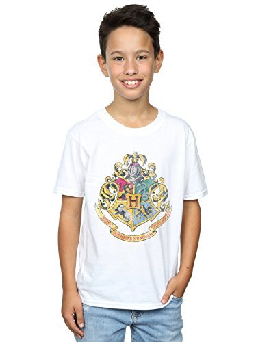 HARRY POTTER Jungen Hogwarts Distressed Crest T-Shirt 12-13 Years Weiß