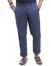 BURBN Men's Slim Fit Casual Trousers