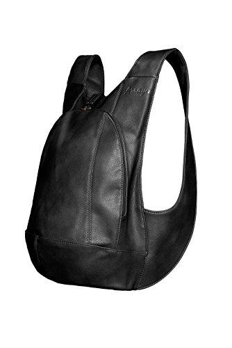 Sac à dos ARSAYO - Design, Confort, Sécurité (Noir, Large)