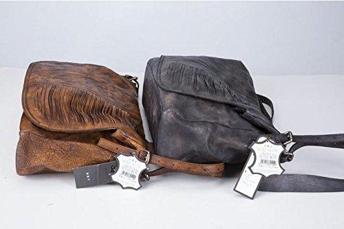 DJB/Herren Leder Tasche/Umhängetasche/Retro//Wildleder Leder Die Man Tasche/handbemalt Braun