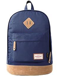 Wylang Color Puro Escolares Backpacks Estudiante Portátil Mochila Alta Capacidad