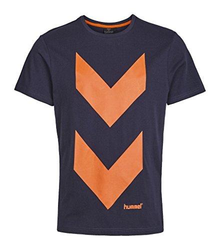 Hummel Player - Maglietta da uomo, design scandinavo Blu nero S