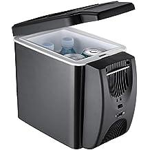 Nevera Termoeléctrica,Alta calidad 6L Refrigerador del refrigerador del coche Mini refrigerador portátil del coche del congelador Caliente y frío 12V (negro) , a