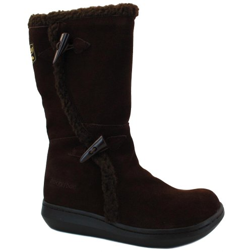 Rocket Dog Damen Slope Fleece Boot Suede Informell, Braun Dunkelbraun