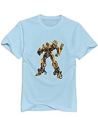 KST Man 's TRANSFORMERS camiseta o cuello Vintage y Color blanco