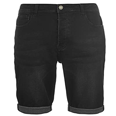 Firetrap Mens Blackseal Denim Jog Shorts Pants Trousers Bottoms Summer Casual