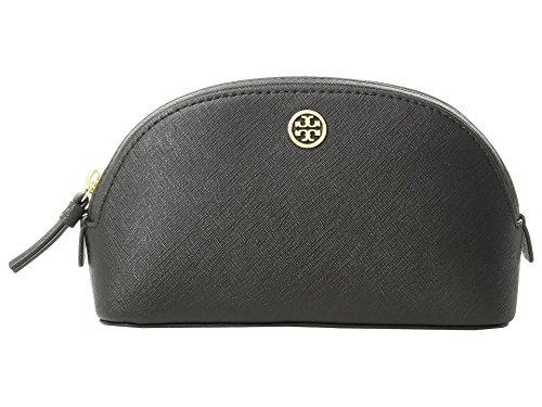 Tory Burch Women's Robinson Small Makeup Bag, Black/Navy, One Size