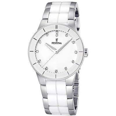 Reloj Festina F16531/3 de pulsera para mujer (mecanismo de cuarzo, esfera blanca y correa de acero inoxidable multicolor) de Festina