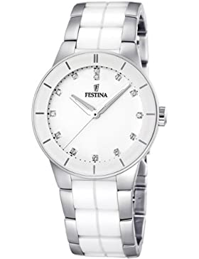 Festina Damen-Armbanduhr XS Trend Ceramic Analog Quarz verschiedene Materialien F16531/3