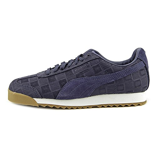 Puma Roma Emboss Checkered Wn's Synthétique Chaussure de Tennis Crown Blue