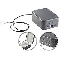 Xcase Geldkassette: Mini-Stahl-Safe für Reise & Auto, Zahlenschloss, Sicherungskabel, 0,7l (Reisesafe)