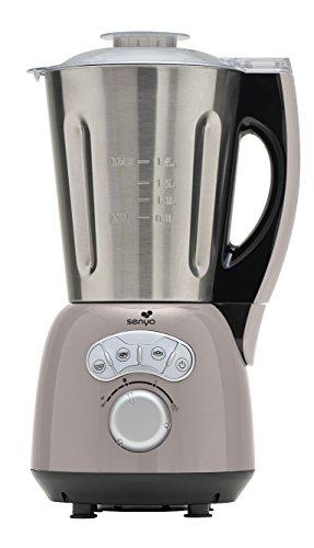 Senya blender chauffant Inox Cook & Ice, mixeur soupe veloutée/moulinée, cuisson vapeur, glace pilée gaspachos compotes coulis jus smoothies milkshakes, bol en Acier Inoxydable 1,5L, 1400W SYCP-HB010R