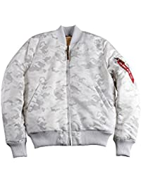 ALPHA INDUSTRIES MA1 VF-59 Bomber Jacket | White Camo Large