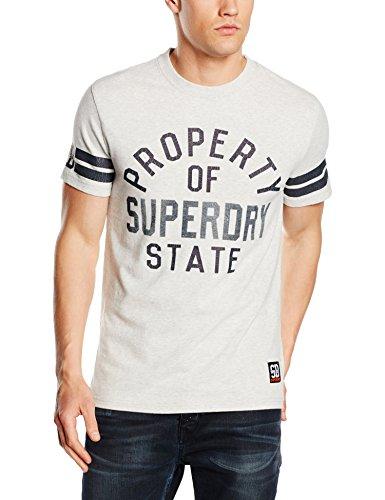 Superdry Herren T-Shirt Super State Varsity S/S Tee Grau
