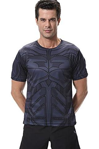 Différents Costumes Batman - Cody Lundin Homme Superhero T-shirt Manches courtes