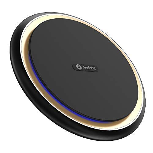 andobil Wireless Charger, 15W Fast Induktive Ladestation Qi Wireless Ladegerät Also 10W 7,5W 5W Vier Lademodi für iPhone XS/XR/X/8 Plus/ 8 Samsung Galaxy S10/S10 plus/S9/S9 Plus Usw.Qi Fähige Geräte