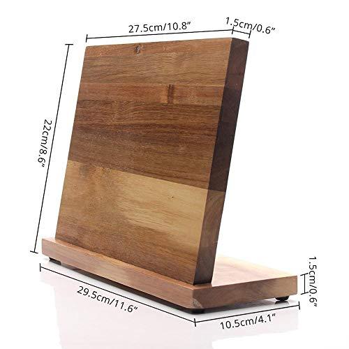 Sungpunet Akazienholz Magnetische Blockhalter, Universalstandplatz ohne Messer für die Küche für Messer Küchenzubehör