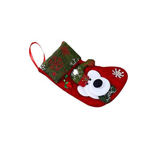Weihnachte Dekor Geschencke Socken, Maloom, Frohe Weihnacht Plüsch Baum hängendes Geschenk Süßigkeit kleine Socken Dekoration Socken Geschenktüte -
