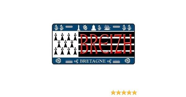 PLAQUE METAL COLLECTION BRETAGNE BREIZH BZH