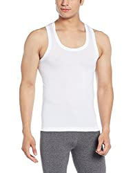 Force NXT Mens Cotton Vest (8902889607719_MNFF-141_Large_White)