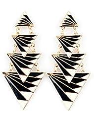 XZX Noir Boucles d'oreilles Triangle