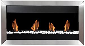 Bio-Blaze BB-SQL1 Wall-Mounted Bioethanol Fireplace Square L I