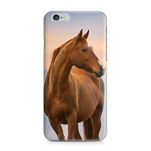 COVER Pferd braun Tier Profil Design Handy Hülle Case 3D-Druck Top-Qualität kratzfest Apple iPhone 6 6S