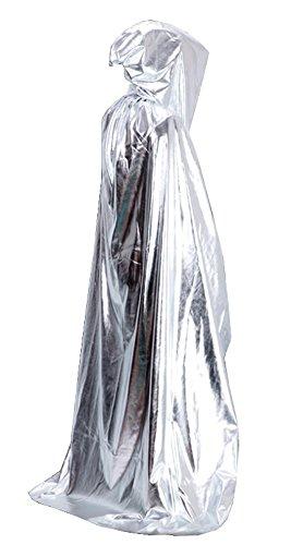 MEYKISS Halloween Props Erwachsene Deluxe Kostüm Cape, MC4600YN, Silber, MC4600YN Einheitsgröße (Deluxe Kostüme Uk Halloween)